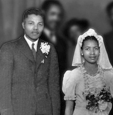 نلسون ماندلا و همسر اولش