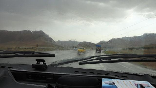 جاده ی زرین شهر- شهر کرد- عصر بارانی تابستان