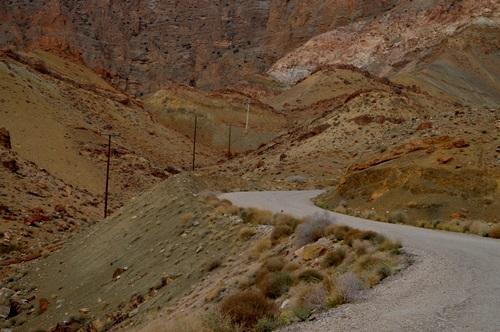 جاده ی روستای چیروک به سد کریت